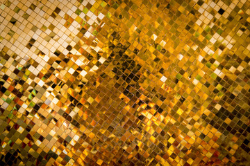 square gold mosaic background