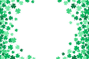 Saint Patricks Day Falling Shamrocks Vector Background 2