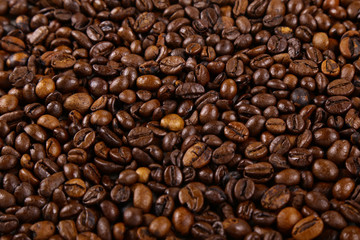 Coffee beans, Grains of coffee background, texture