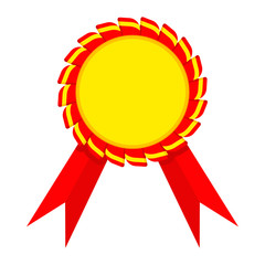 ribbon award golden red