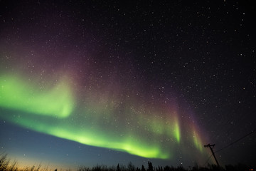 dramatic northern lights