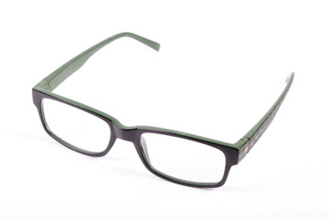 Glasses for sight, spectacles eyeglasses isolated on white background