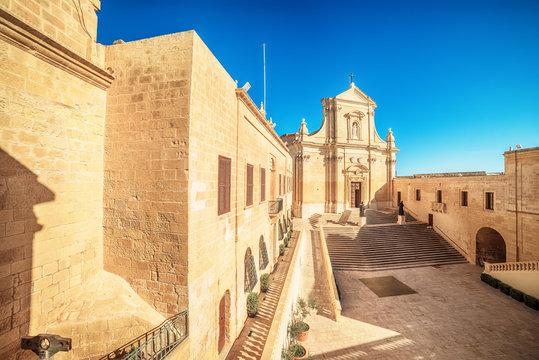 Victoria, Gozo island, Malta: Cathedral of the Assumption in the Cittadella, also known as Citadel, Castello