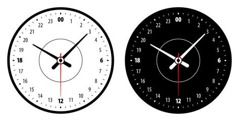twenty four skala clock