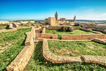 Victoria, Gozo island, Malta: ruins of the Cittadella, also known as Citadel, Castello