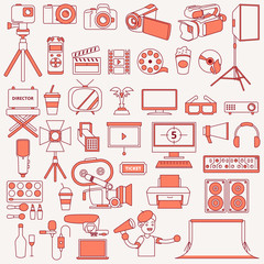 Photography and Videography Icons Illustration