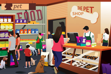 People Shopping For Their Pets at Pet Shop