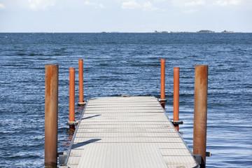 Bridge into the water in Oresund Denmark