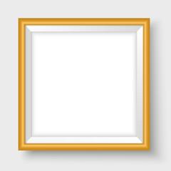 Frame mock up for poster vector template golden