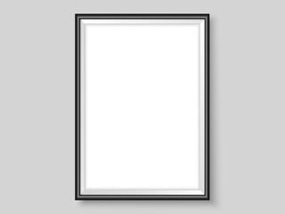 Photoframe template realistic mock up vector black