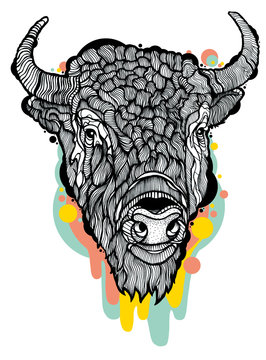 Bison Animal with drips