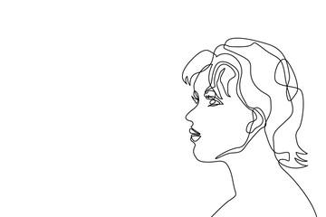 Linear women face.