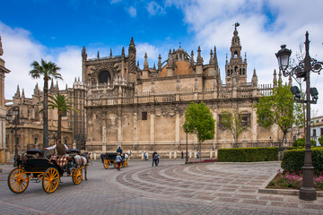 Seville, Andalusia, Spain - Exterior of the cathedral in Seville