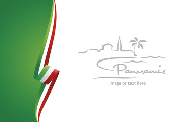 Italy abstract brochure cover poster background vector