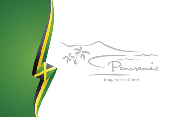 Jamaica abstract brochure cover poster background vector