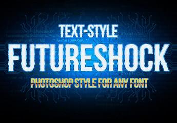 Blue Metallic Text Style 2