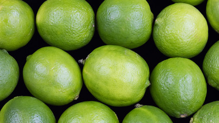 Delicious fresh green juicy Limes