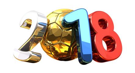2018 soccer football ball symbol 3d rendering