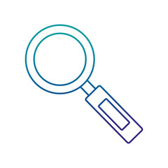 magnifying glass isolated icon