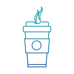 coffee in plastic cup icon