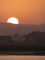 Frontera España Portugal  Ayamonte, Castro Marim, Vila Real de Santo Antonio. Ayamonte, pueblo de Huelva, Andalucía, situado junto a la desembocadura del río Guadiana