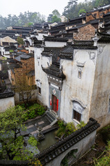 Huang ling village in Wuyuan, with typical traditional Hui homes. Wuyuan County is famous for the yellow rapeseed flowers in spring and is considered one of the most beautiful rural locations of China