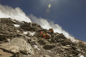 Arriving at High Camp 2, Mt. Everest Tibet