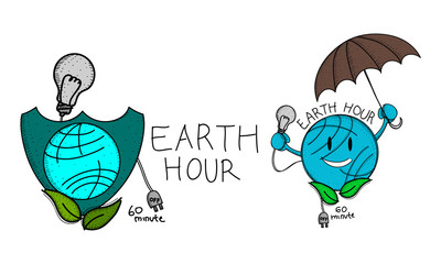 Earth Hour 60 Minute Template Set