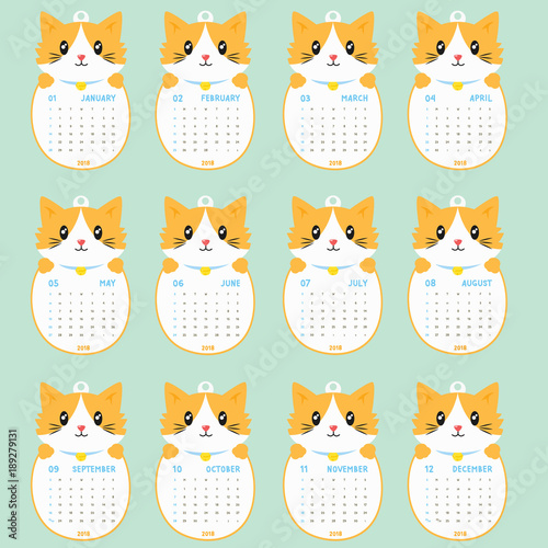 2018 calendar template 2018 animal shaped calendar cute cat holding calendar printable 2018