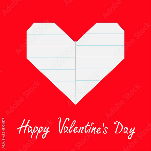 Happy Valentines Day Sign Symbol Notebook Line Paper Heart Icon
