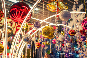 various christmas ball ornaments decoration hanging