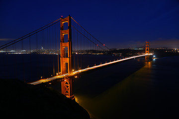 Night at the Golden Gate Bridge, San Francisco