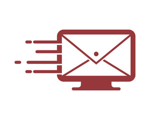monitor screen mail email image post message envelope image vector icon