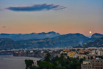 Italy Calabria Sorrento morning sun