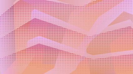 Abstract warm orange and pink background with zig zag elements. Light color gradient zigzag rectangular shapes texture for software design, web, apps wallpaper, presentation