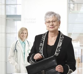 Senior businesswoman at medical center