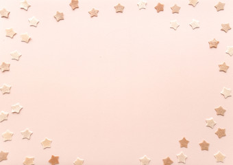 Tender pink star background