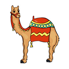 Camel Animal in Cartoon Style