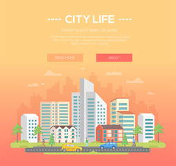 City life - modern vector illustration
