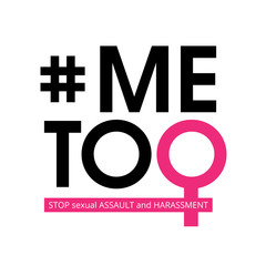 Me Too social movement hashtag against sexual assault and harassment. Vector illustration isolated on white background. Perfect to use for print layouts, web banners design and other creative projects