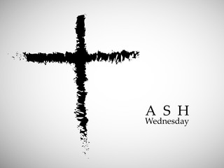 Illustration of Ashes Cross for Ash Wednesday