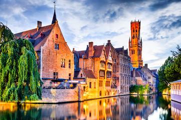Foto op Canvas Brugge Belfry, Bruges, Belgium