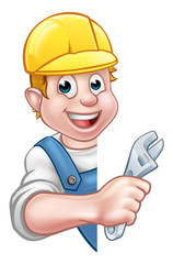 Plumber Cartoon Character