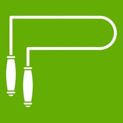 Skipping rope icon green