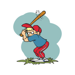 base ball players are hitting cartoon
