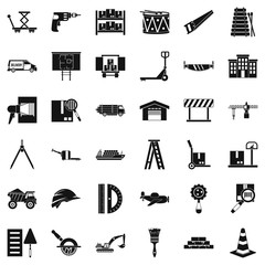 Forwarding icons set, simple style