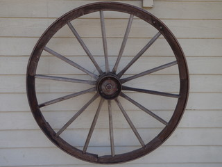 Wheel from a horse and cart