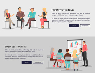 Business Training for Workers Vector Illustration