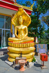 "The Gold Statue of Buddha ""Saturday"" in Pattaya, Thailand"
