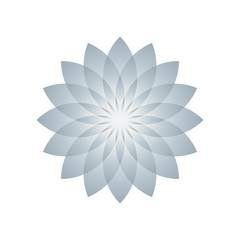 Lotus plant symbol. Vector illustration